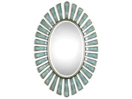 Uttermost Morvoren 27 x 40 Blue-Gray Oval Wall Mirror