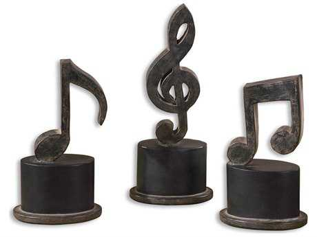 Uttermost Music Notes Metal Figurines (3 Piece Set) UT19280