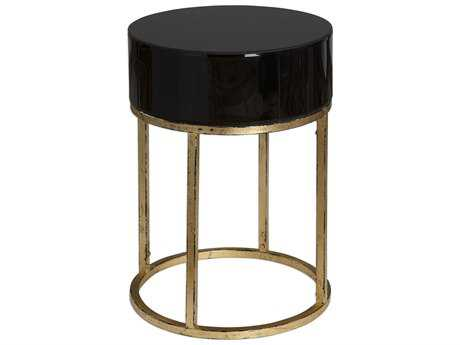 Uttermost Myles Black 18' Round Curved Accent Table UT24642