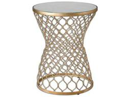 Naeva 17.25 Square Gold Drum Table