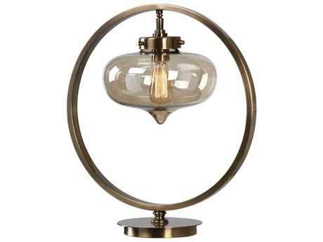 Uttermost Namura Antique Plated Brass Table Lamp