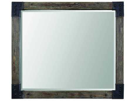 Uttermost Nelo 46 x 41 Weathered Wood Wall Mirror