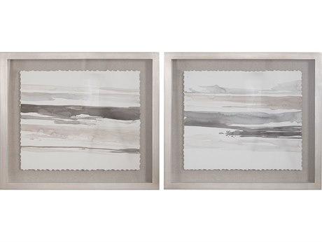 Uttermost Neutral Glass Wall Art (Set of 2)