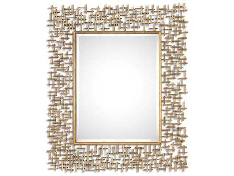 Howard Elliott Fleur 17 18 24 Round Gold Wall Mirror