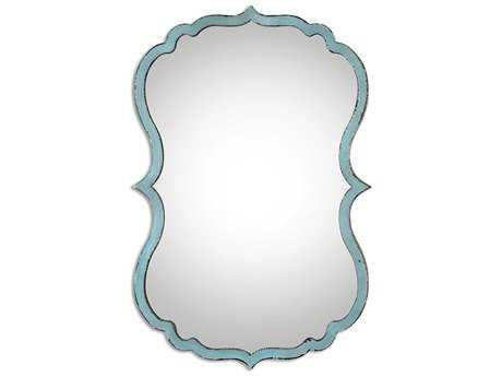 Uttermost Nicola 18 x 27 Light Blue Wall Mirror