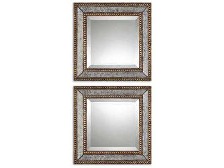 Uttermost Norlina 18 x 18 Squares Antique Wall Mirrors (2 Piece Set) UT13790