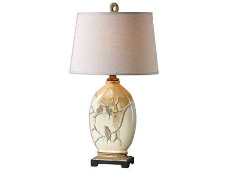 Uttermost Pajaro Aged Ivory Table Lamp UT26498