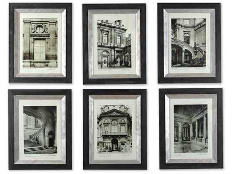 Uttermost Paris Scene Framed Wall Art ( 6 Piece Set) UT33430