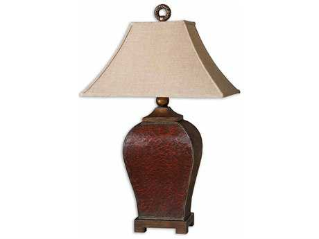 Uttermost Patala Crackled Red Buffet Lamp UT27662