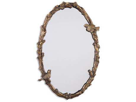 Uttermost Paza 22 x 34 Oval Vine Gold Wall Mirror
