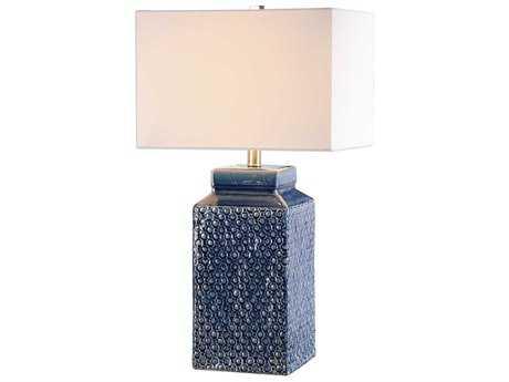 Uttermost Pero Fired Sapphire Blue Table Lamp UT272291