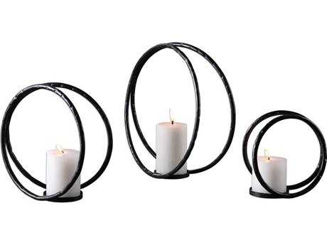Uttermost Pina Curved Metal Candle Holder (Set of Three) UT18709