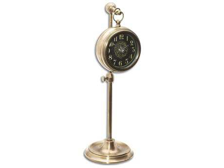 Uttermost Pocket Watch Brass Woodburn Clock UT06069