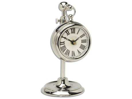 Uttermost Pocket Watch Nickel Marchant Cream Clock UT06070