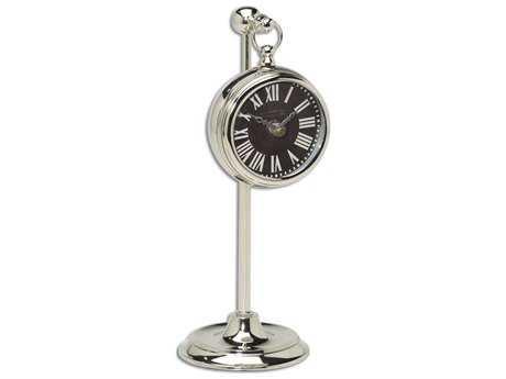 Uttermost Pocket Watch Nickel Marchant Black Clock UT06071