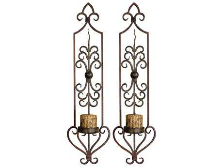 Uttermost Privas Metal Wall Sconce Candle Holder (2 Piece Set)