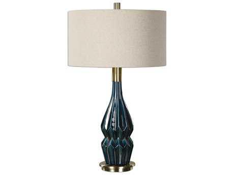 Uttermost Prussian Blue Ceramic Table Lamp UT270811