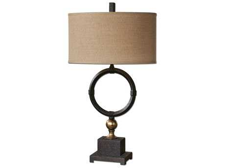 Uttermost Pueblo Black Circle Table Lamp UT262961
