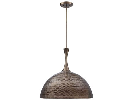 Uttermost Raynott Antique Brass One-Light 23'' Wide Pendant