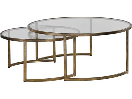 Uttermost Rhea 42'' Wide Round Coffee Table Nesting UT24747
