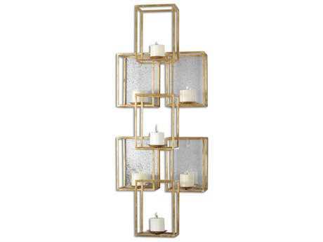 Uttermost Ronana Mirrored Gold Candle Holder UT07693