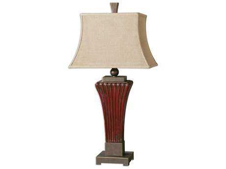 Uttermost Rosso Ribbed Ceramic Table Lamp UT26465