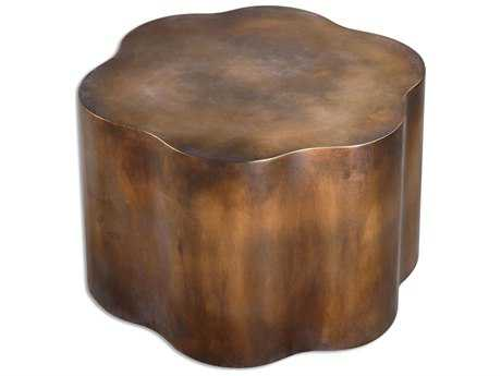 Uttermost Sameya 26 x 24 Oxidized Copper Drum Table UT24445