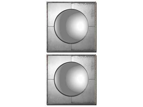Uttermost Savio 16 x 16 Silver Wall Mirrors (2 Piece Set) UT12829