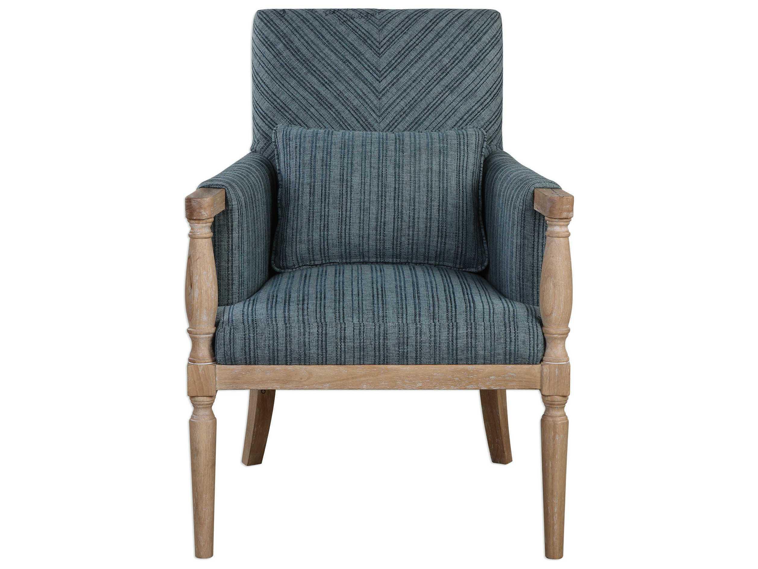 Uttermost Seamore Blue Amp Aqua Accent Chair Ut23362