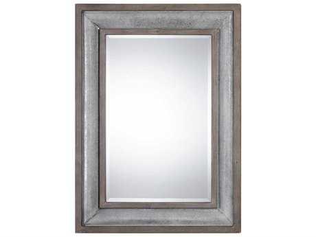 Uttermost Selden Aged Solid Wood & Galvanized Steel 33''W x 45''H Rectangular Wall Mirror UT09179