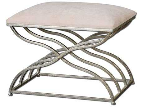 Uttermost Shea Satin Nickel Stool