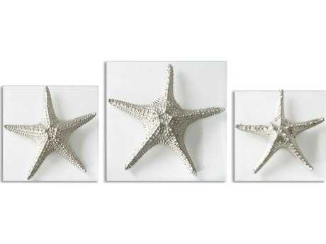 Uttermost Silver Starfish 3 piece Wall Art UT01129