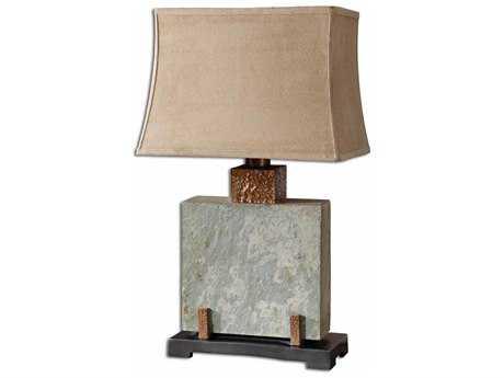 Uttermost Slate Square Table Lamp UT263211