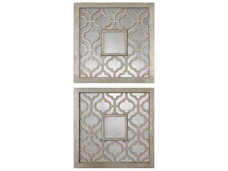 Uttermost Sorbolo 20 x 20 Squares Decorative Wall Mirrors (2 Piece Set) UT13808