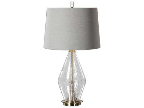 Uttermost Spezzano Crackled Glass Brass Table Lamp