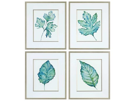 Uttermost Spring Leaves Glass Wall Art UT33675