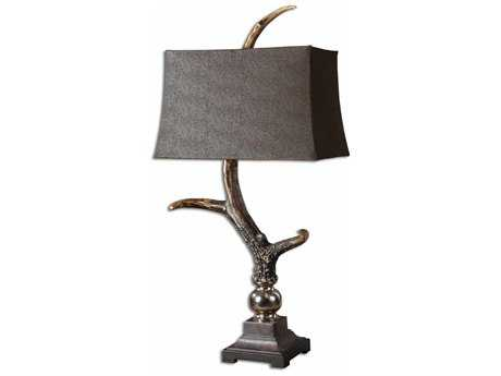 Uttermost Stag Horn Dark Shade Table Lamp UT27960