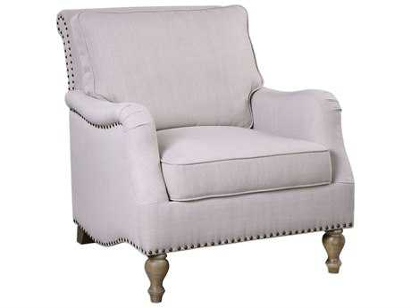 Uttermost Armstead Antique White Accent Chair