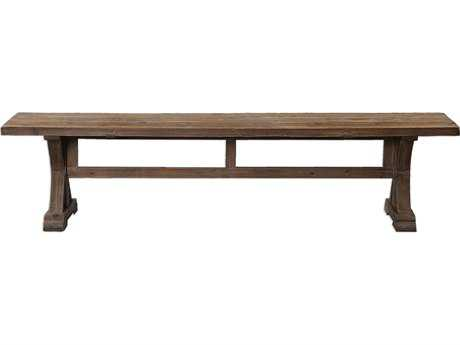 Uttermost Stratford Distressed Patina Salvaged Wood Accent Bench