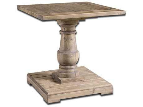 Uttermost Stratford 26 Square Pedestal End Table UT24252