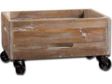 Uttermost Stratford Reclaimed Wood Rolling Box UT24247