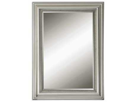 Uttermost Stuart Silver 27 x 37 Beaded Wall Mirror UT12005B