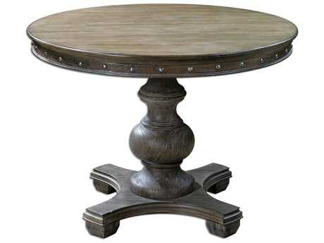 Uttermost Sylvana 42 Round Wood Dining Table UT24390