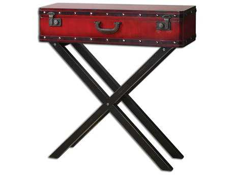 Uttermost Taggart 32 x 10 Rectangular Red Console Table UT24379