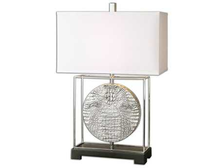 Uttermost Taratoare Polished Nickel Table Lamp UT261811