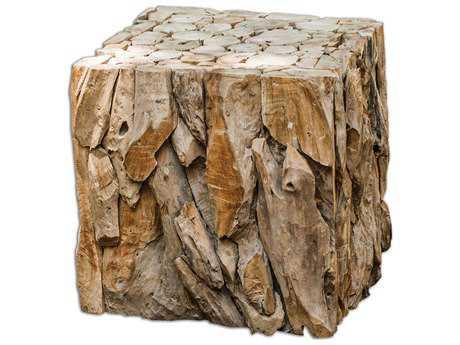Uttermost Teak Root Bunching Cube UT25592