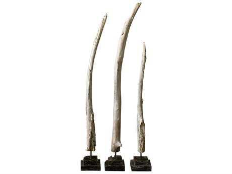 Uttermost Teak Branches Statues (Three Piece Set) UT18767