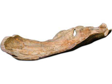 Uttermost Teak Leaf Bowl Sculpture UT17085