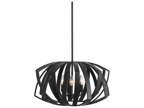 Uttermost Thales Matte Black 22'' Wide Mini Chandelier UT22137