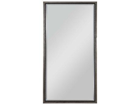 Uttermost Theo Mottled Antique Silver / Aged Gunmetal 33''W x 63''H Rectangular Wall Mirror